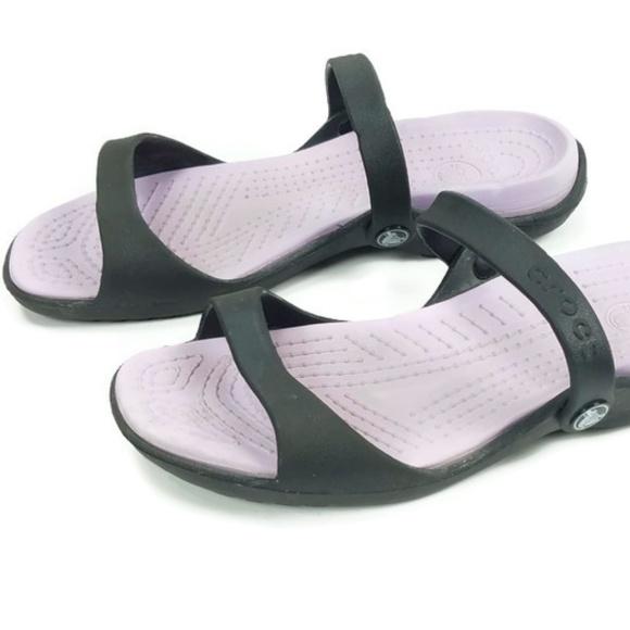 wyprzedaż w sklepie wyprzedażowym gorące produkty całkiem miło Crocs Cleo V Womens Sz 10 Slip On Black Purple